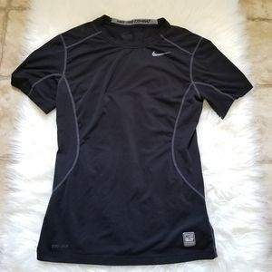 Nike Pro Combat Fitted Dri Fit Active Tee Shirt